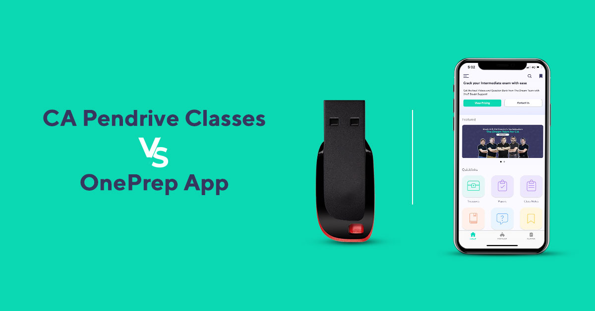 Why choose OnePrep app over Pendrive classes