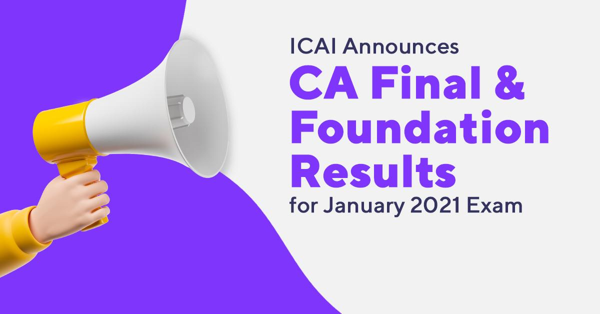 CA Foundation and Final Results Out